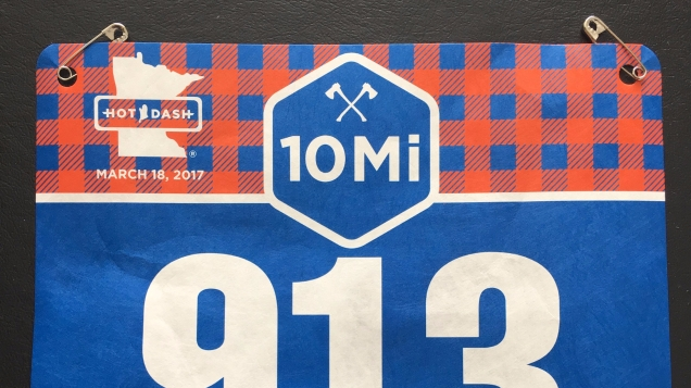 20170328 - 10 Mile Race Bib